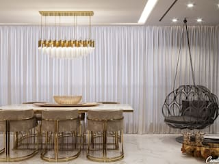 Comedores de estilo minimalista de Camila Pimenta | Arquitetura + Interiores Minimalista