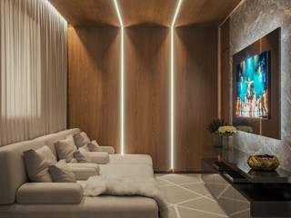 Camila Pimenta | Arquitetura + Interiores 家庭劇院 木頭 Beige