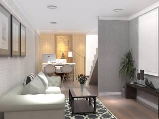 Valdus Conception Co., Ltd. Corridor, hallway & stairsStairs White