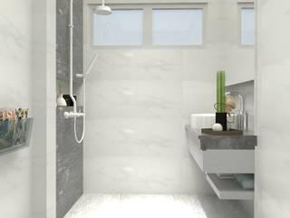 Valdus Conception Co., Ltd. BathroomBathtubs & showers Grey