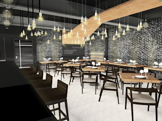 7th Street Bar & Bistro - 3D Interior Design (Thonglor Soi 10): ด้านอุตสาหกรรม  โดย Valdus Conception Co., Ltd., อินดัสเตรียล