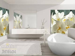 1. GLASBILDER IM BADEZIMMER Moderne Badezimmer von Mitko Glas Design Modern