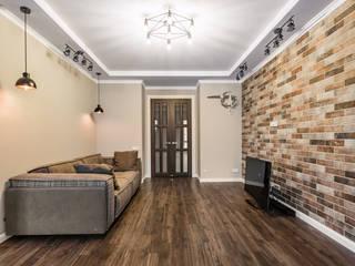 Ремонт четырехкомнатной квартиры 200 м² Гостиная в стиле лофт от Бюро интерьеров ICON Лофт