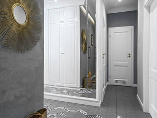 Klaudia Tworo Projektowanie Wnętrz Sp. z o.o. オリジナルスタイルの 玄関&廊下&階段 灰色