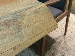 【整塊木頭直送到府:實木餐桌】: 亞洲  by 品茉空間設計(夏川設計), 日式風、東方風