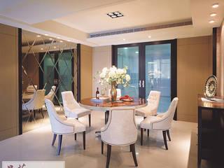 【英倫風格控:木板烤漆餐桌】: 經典  by 品茉空間設計(夏川設計), 古典風