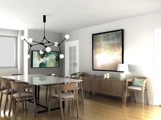 T3 Av. Guerra Junqueiro Salas de jantar modernas por Filipa Perestrelo Leite - Design de interiores Moderno