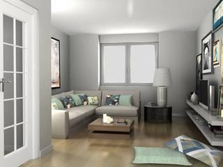 T3 Av. Guerra Junqueiro Salas de estar modernas por Filipa Perestrelo Leite - Design de interiores Moderno