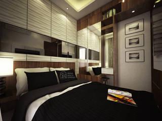 Desain Apartment Amazana Serpong PT NUSA MULTI DIMENSI Kamar Tidur Modern