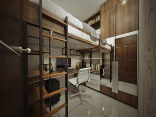Desain Apartment Amazana Serpong PT NUSA MULTI DIMENSI Kamar tidur kecil