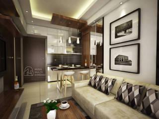 Desain Apartment Amazana Serpong PT NUSA MULTI DIMENSI Dapur built in