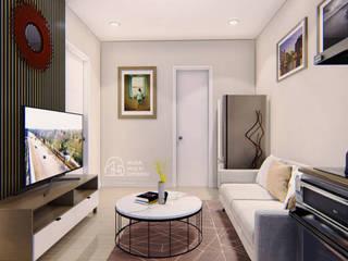 Desain Apartment Summarecon Bekasi PT NUSA MULTI DIMENSI Ruang Keluarga Modern