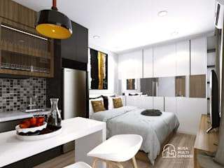 Desain Apartment Verdura Sentul PT NUSA MULTI DIMENSI Kamar tidur kecil