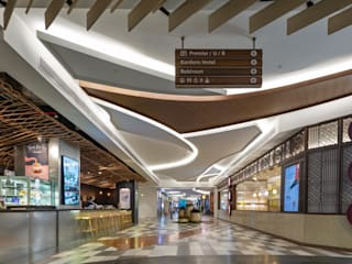 The Gardens Mall X Swofinty Design Shopping Centres Wood Multicolored