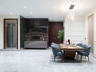 Sea Link View - Pent House In Mumbai Minimalist dining room by Studio EMERGENCE Minimalist