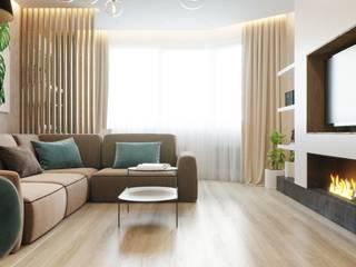 Бюро интерьеров ICON INTERIORS Scandinavian style living room