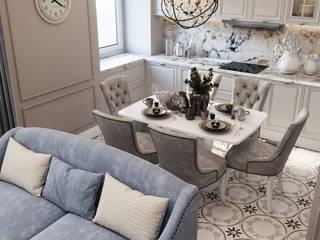 Дизайн проект квартиры в стиле современная классика 130 м² Кухня в классическом стиле от Бюро интерьеров ICON Классический