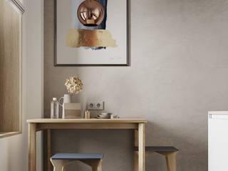 Современный интерьер квартиры 46 м² в ЖК I'M Кухня в скандинавском стиле от Бюро интерьеров ICON Скандинавский