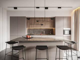 Svetlogorskii lux Кухня в стиле модерн от УММ5 Модерн