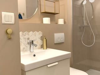 Sandrine Carré Scandinavian style bathroom