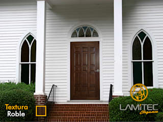 Lamitec SA de CV Front doors Metal Wood effect