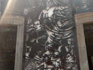 HERRAJES ECATEPEC DE ORIENTE, S.A. DE C.V. Casas estilo moderno: ideas, arquitectura e imágenes Hierro/Acero Negro