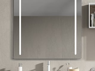 Xpertials SL Modern style bathrooms Glass