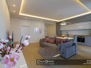 Квартира на Миронова (часть 2) Гостиная в стиле минимализм от Чвиж Дмитрий Минимализм