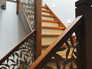 Laser cut balustrade infill – Tiger Leaf design Staircase Renovation Stairs