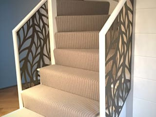 Laser cut balustrade infill – Frond design Staircase Renovation Stairs