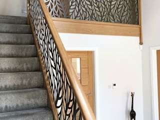 Laser cut balustrade infill panels – Frond Staircase Renovation Merdivenler