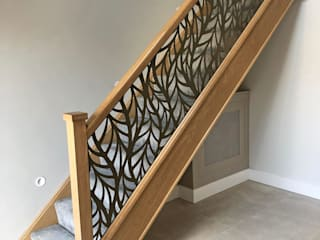 Laser cut balustrade infill panels – Frond Staircase Renovation Escaleras