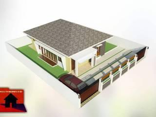 Rumah tinggal klambir lima Multi Renovasi Dinding & Lantai Minimalis Beton Brown
