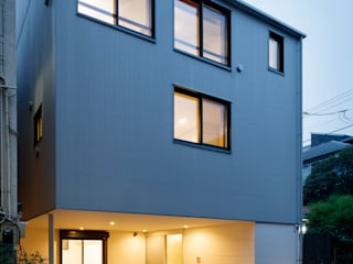 設計事務所アーキプレイス Single family home Iron/Steel Metallic/Silver