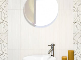 Mathasa Minimalist bathroom Ceramic White