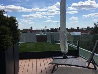 Rollrasen auf Dachterrasse von Pflanz im Glück