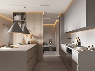 Minimalist kitchen by YOUSUPOVA Minimalist