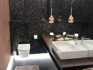 Gestaltung eines Gäste-WCs Ottagono+Rechsteiner Interior AG Moderne Badezimmer