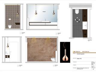 Gestaltung eines Gäste-WCs Ottagono+Rechsteiner Interior AG Moderne Häuser