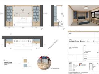 Umbau + Ausstattung eines Ferienhauses Ottagono+Rechsteiner Interior AG Rustikale Häuser