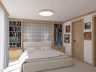 Umbau + Ausstattung eines Ferienhauses Ottagono+Rechsteiner Interior AG Rustikale Schlafzimmer