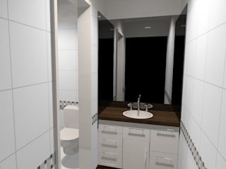 Modern bathroom by laura zilinski arquitecta Modern