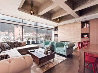 Arquitecto Santiago Rodriguez Ruang Keluarga Gaya Eklektik