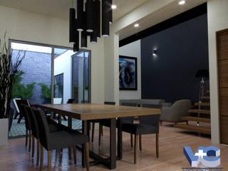 REMODELACIÓN DE CASA HABITACIÓN 7.00X15.00 M Comedores modernos de V+C Arquitectura Moderno