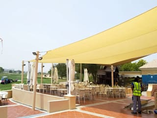 Car Parking Shades, Tensile Structures and Fabric Sun Shades Classic style garage/shed by Al Fares International Tents Classic