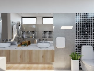 Baño principal Baños de estilo moderno de Arquydesign Moderno