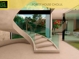 FOREST HOUSE CHOLUL by AIDA TRACONIS ARQUITECTOS EN MERIDA YUCATAN MEXICO Modern