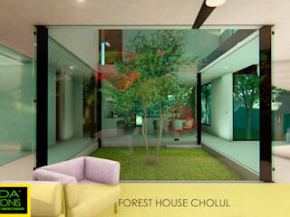FOREST HOUSE CHOLUL Modern Living Room by AIDA TRACONIS ARQUITECTOS EN MERIDA YUCATAN MEXICO Modern