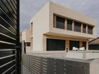 Fachada Piedra Casas de estilo minimalista de Rosal Stones Minimalista