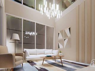 Desain Interior Office Harapan Indah Bekasi PT NUSA MULTI DIMENSI Ruang Studi/Kantor Modern